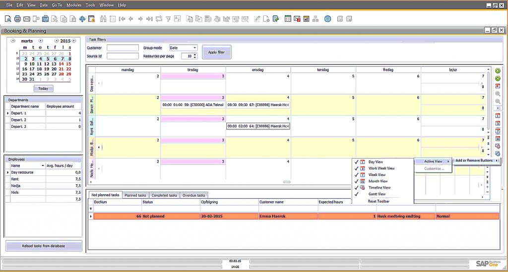 Optimer hele vagtplanlægningen med Bemandingsplanlægning i SAP Business One