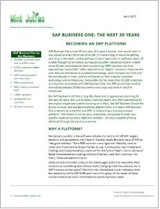 SAP Business One 20 år - hvor er vi på vej hen